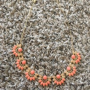 Boutique coral and gold necklace